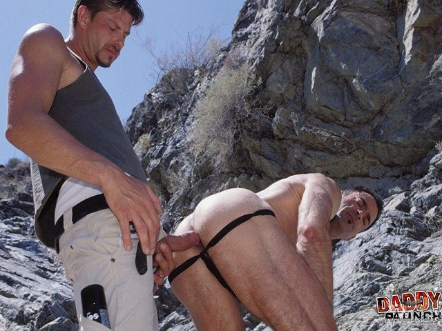 Daddies Barebackin in the Outdoors