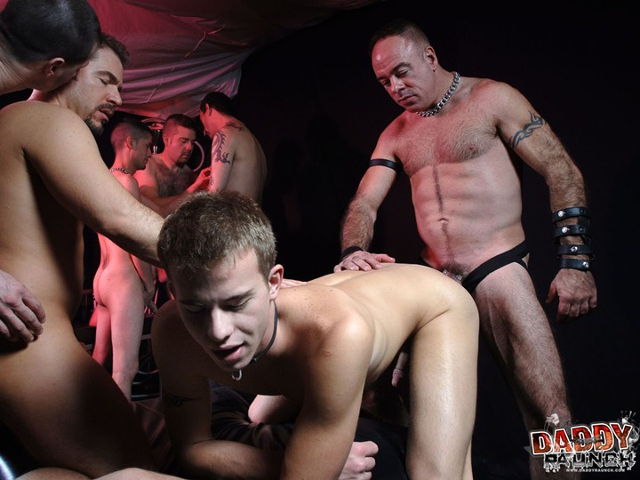 Daddies Gang Bang a Young BoyHole