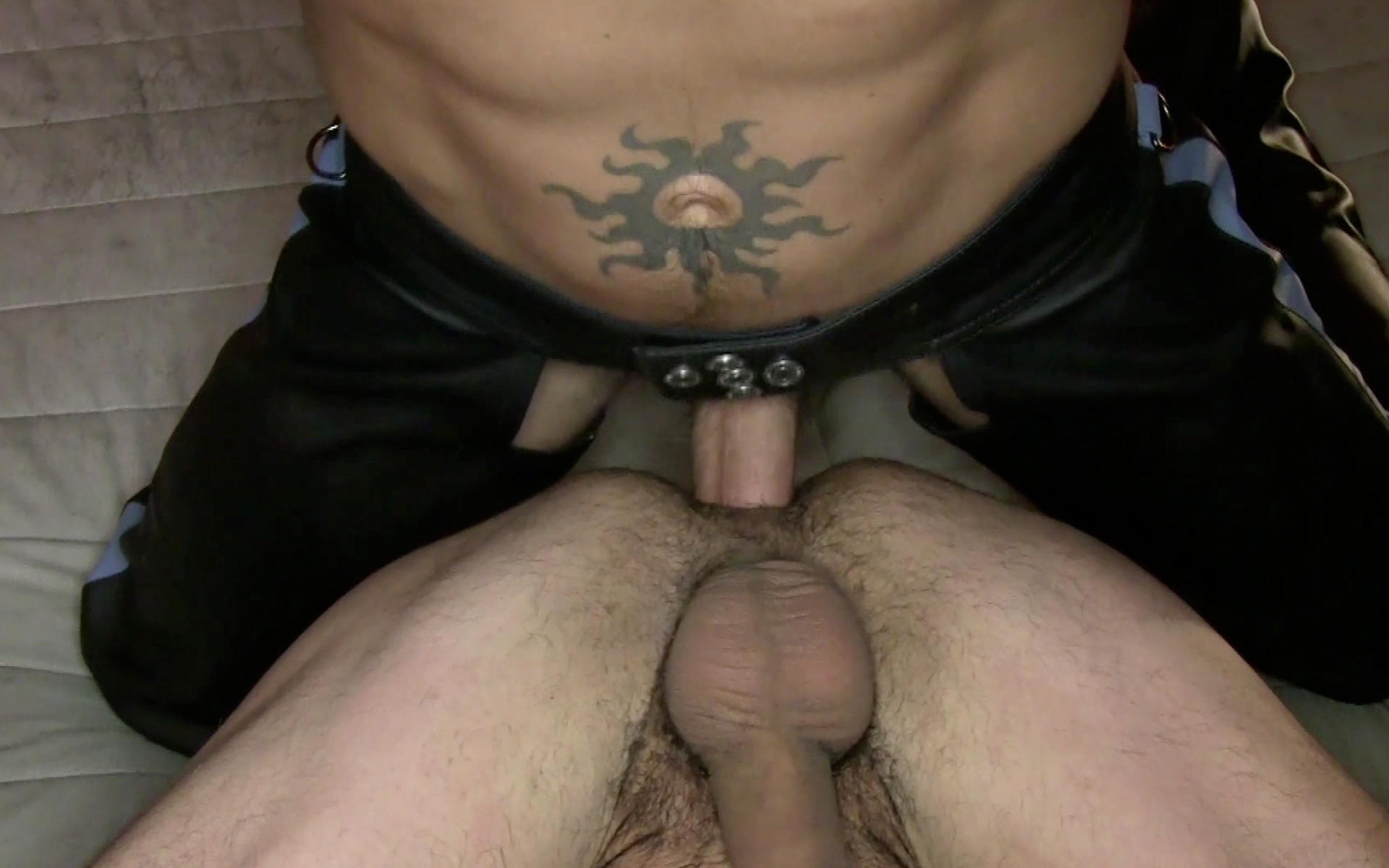Gay leather sex video