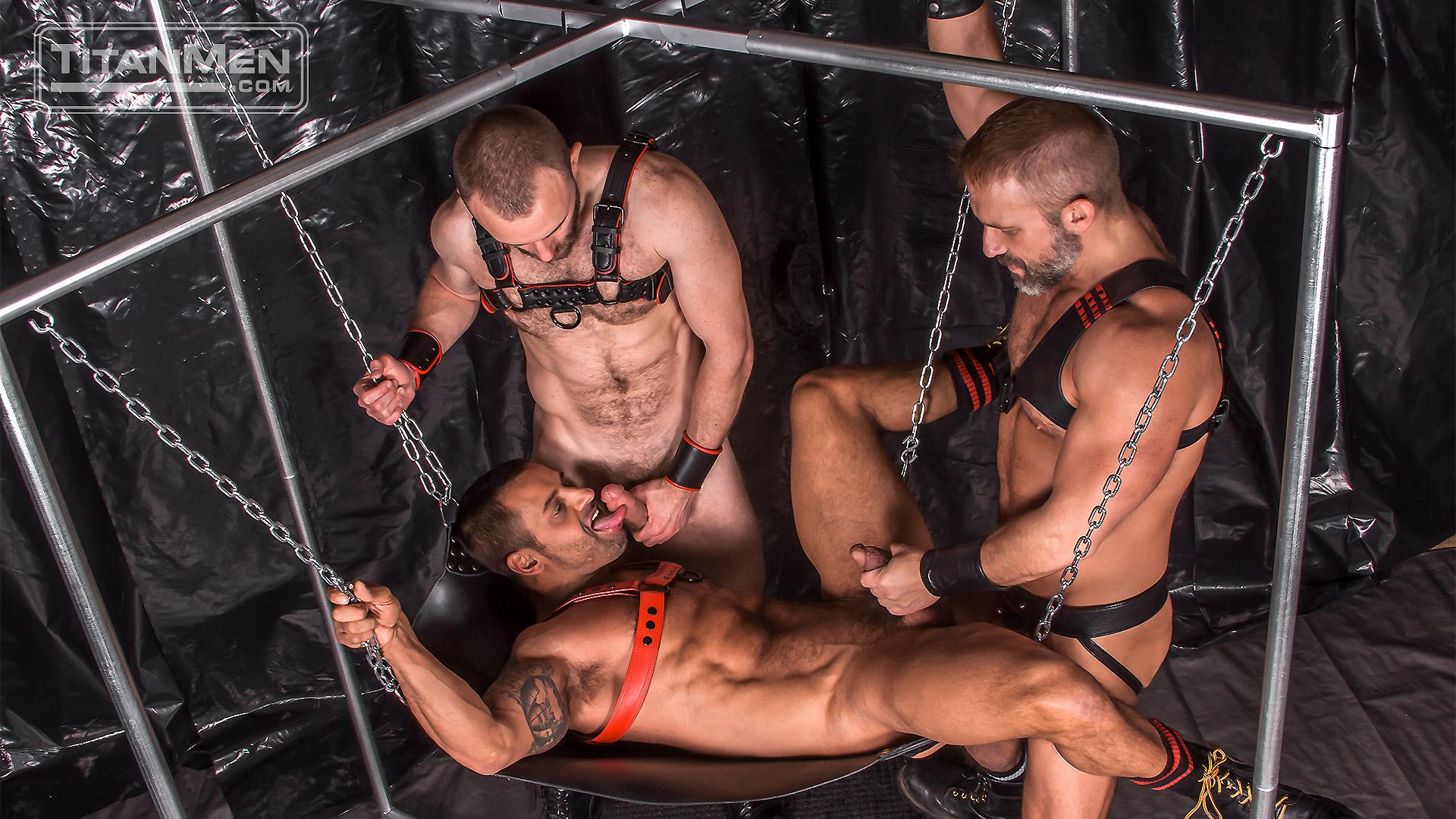 Leather Guys: David Benjamin, Nick Prescott and Dirk Caber