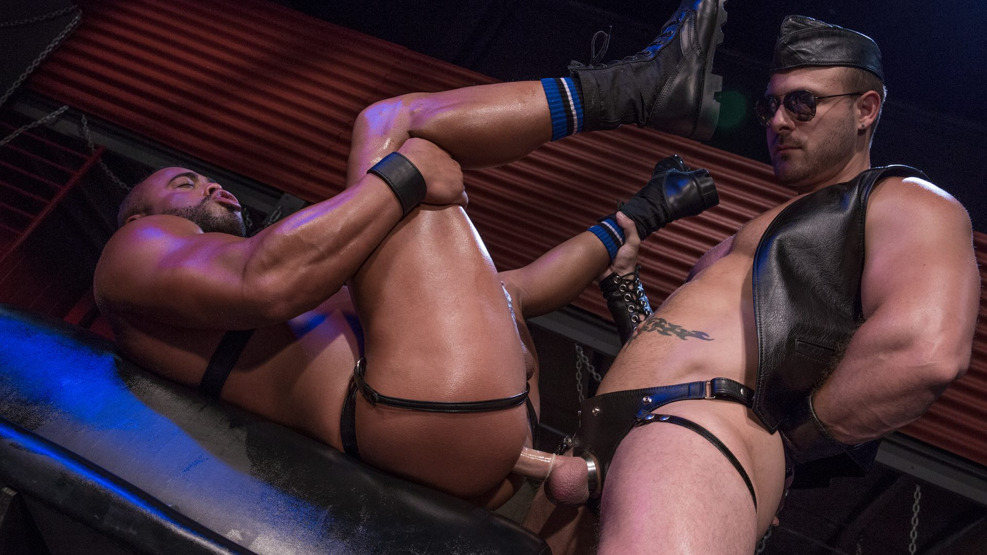 Leather Sex: Micah Brandt and Austin Wolf