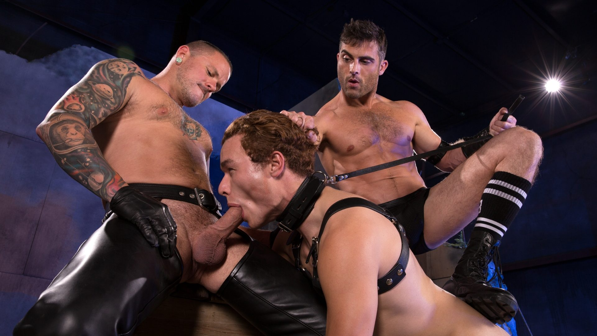Leather Sex: Lance Hart, Micky Mackenzie and Max Cameron