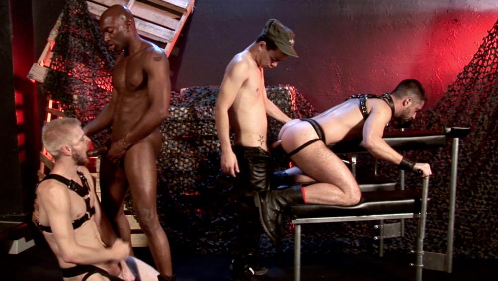 Leather Orgy: Champ, Alejandro, Logan and Brandon