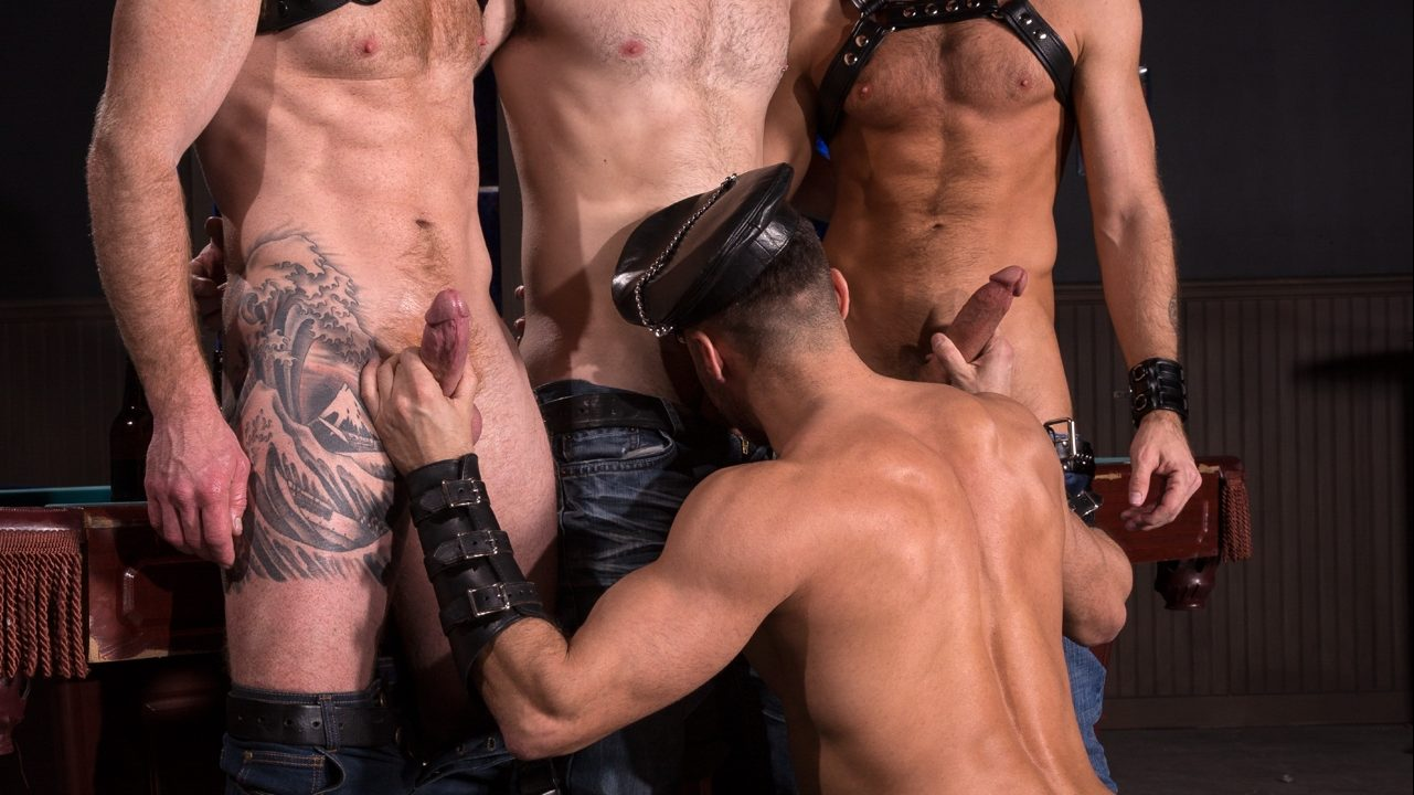 Leather Sex: Jack Vidra, Jack Andy, Manuel Skye and CJ Phillips