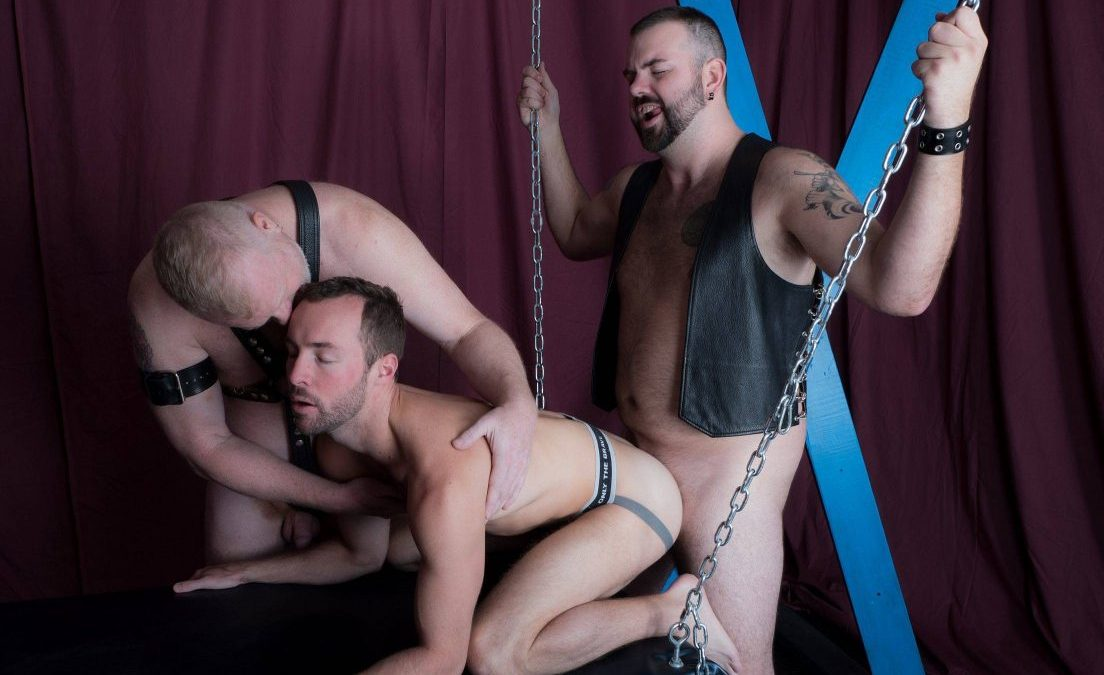 Leather Sex: Rusty McMann, Aiden Storm and Alex Hawk