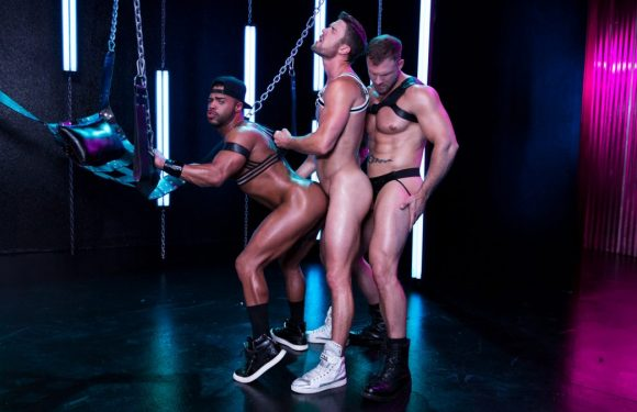 Leather Sex: Micah Brandt, Ryan Rose and Austin Wolf