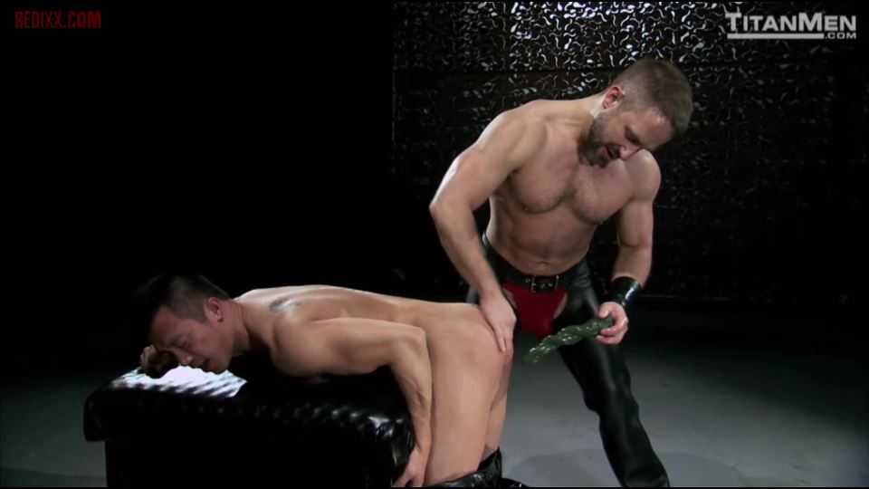 A Sexy Leather Daddy Abuses An Young Slut