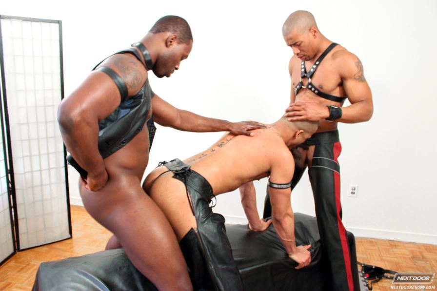 Another Great Leather Threesome