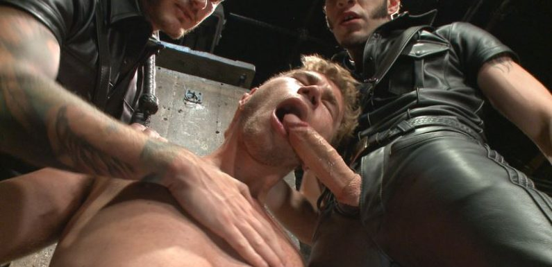 Leather Masters Christian Wilde and Wolf Hudson Abuse Alex Greene