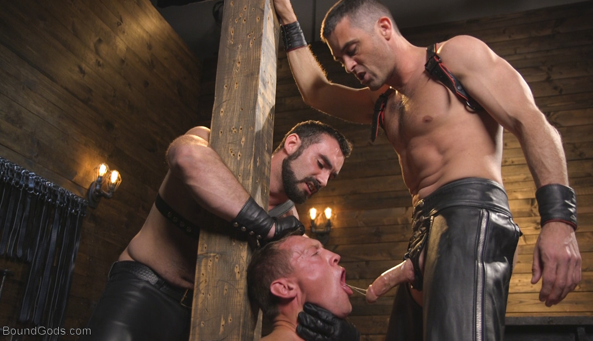 Leather Masters Jaxton Wheeler and Lance Hart Torture Pierce Paris
