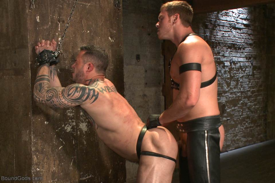 Leather Porn Stud Gets Abused
