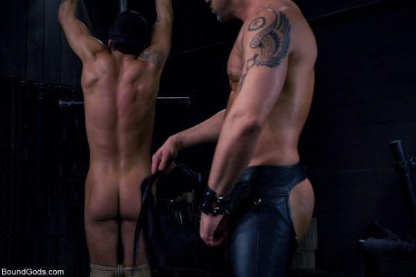 Leather BDSM: Dominic Pacifico and CJ Madison