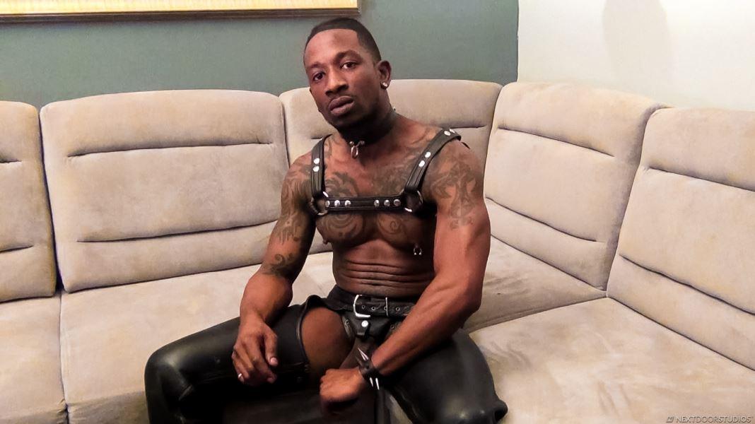 Leather Stud Rio Jerks Off