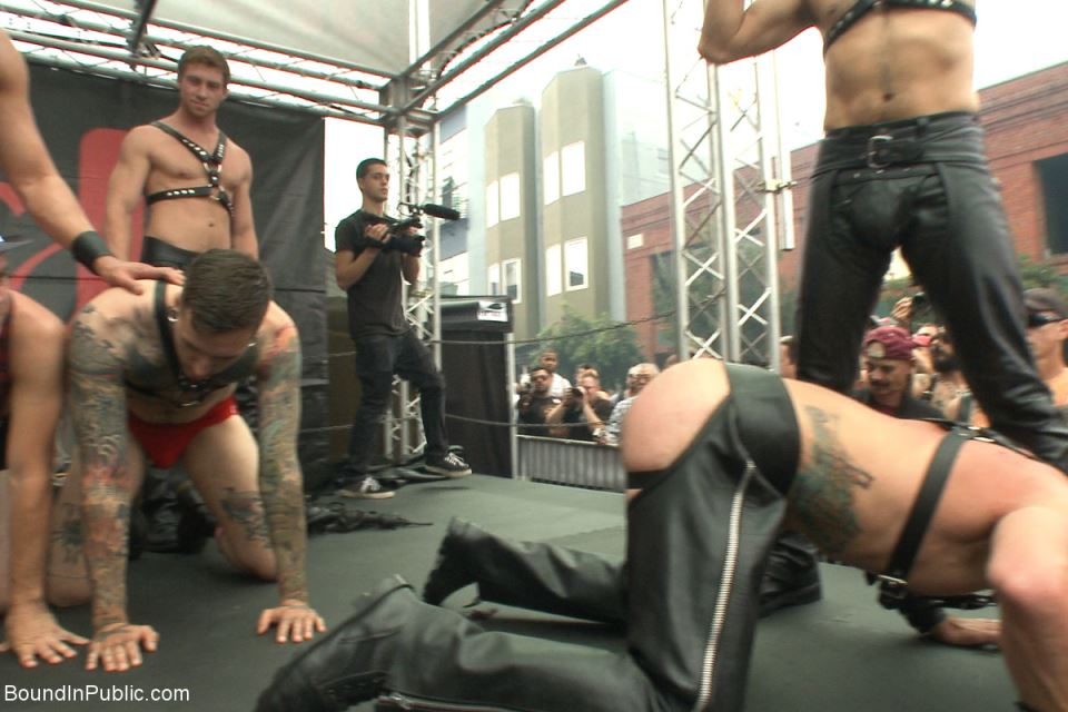 Abusing Leather Slaves
