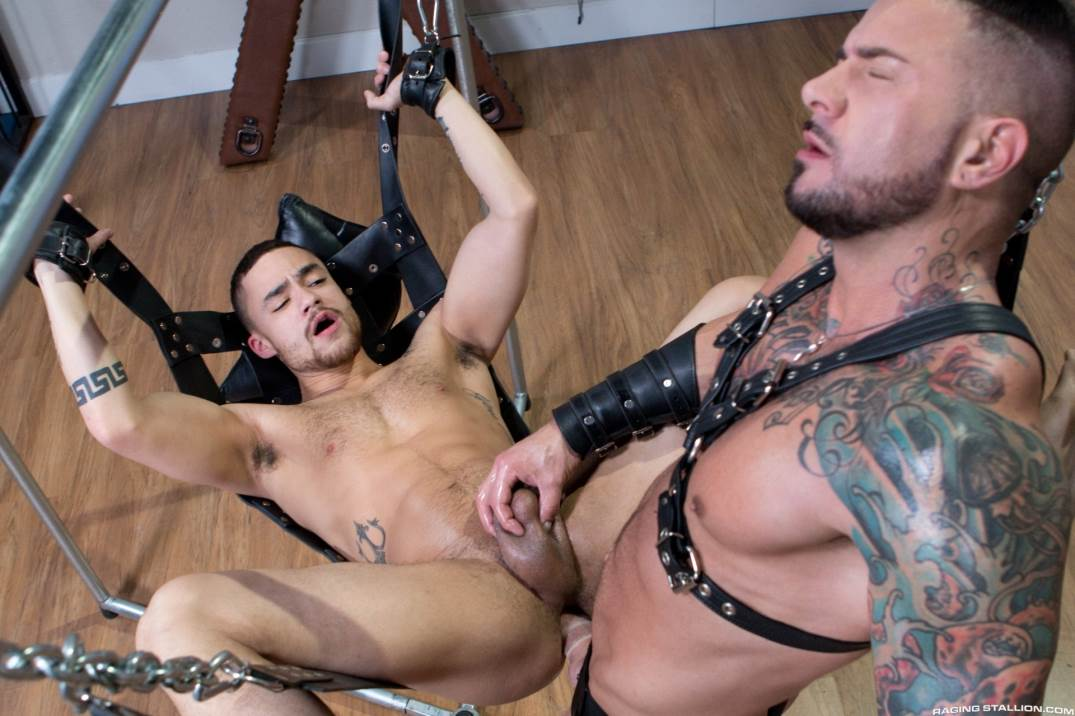 Dolf Dietrich Plows Beaux Banks In The Leather Sling